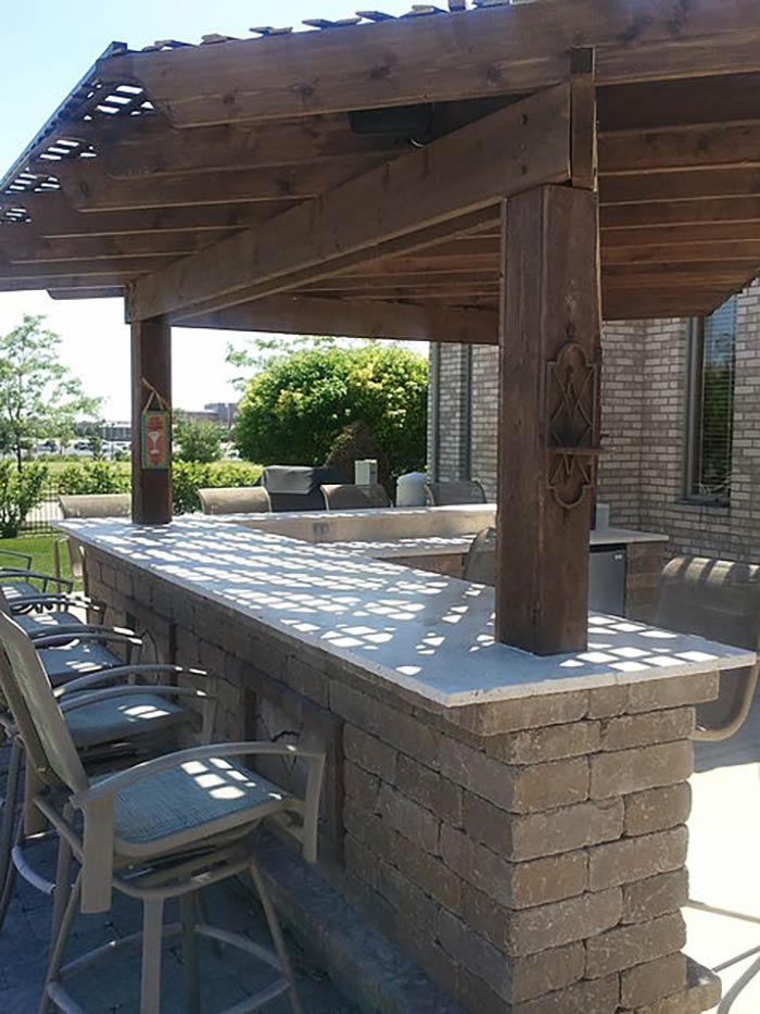 Pergolas & Pavilions Gallery | Orland Park | All Seasons ... on Bar Patio Ideas id=56888