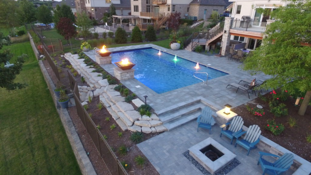 Beautiful Rectangle Shotcrete Pool designed by All Seasons Pools & Spas, Inc.