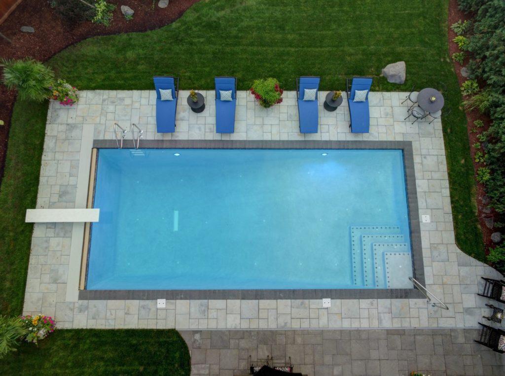 Rectangle Shotcrete Pool in Orland Park, IL