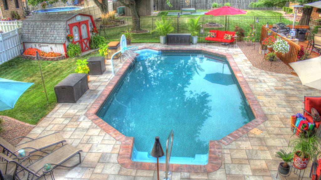 Grecian Vinyl Rectangle Pool of All Seasons Pools & Spas, Inc.