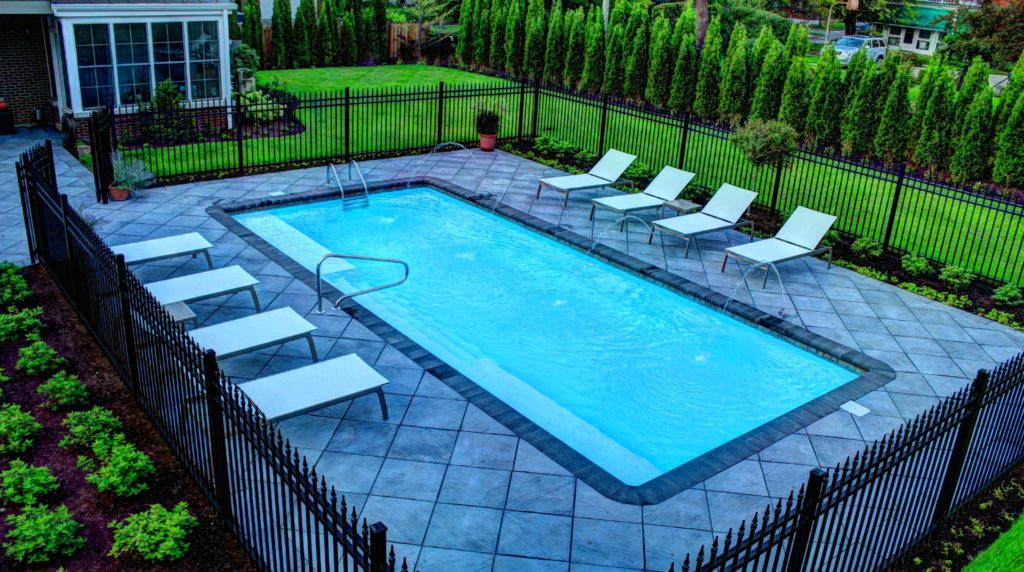 Check out Grand Manhattan by San Juan fiberglass pool