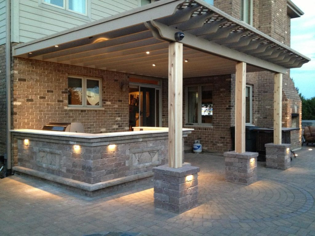 Pergola with Outdoor Kitchen & Bar in Orland Park, IL