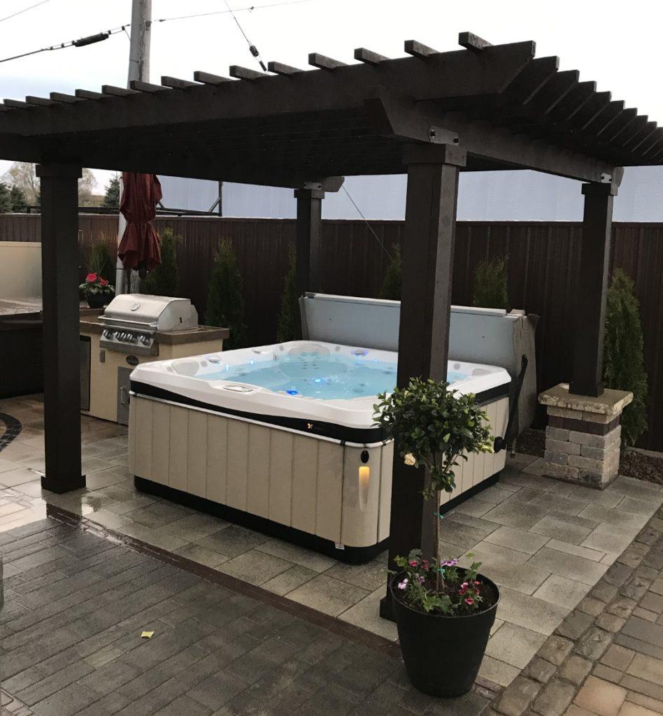 7 Seater Hot Tub with Custom Pergola & Patio