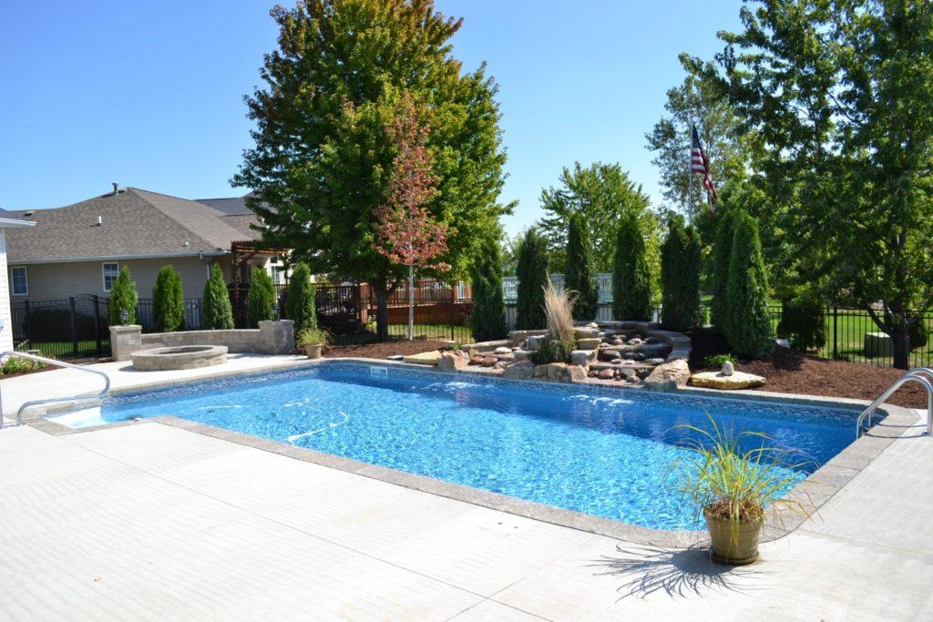 Beautiful Vinyl Rectangle Pool at All Seasons Pools & Spas, Inc.