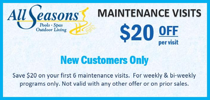 Maintenance Visits Offers at All Season Pool & Spa
