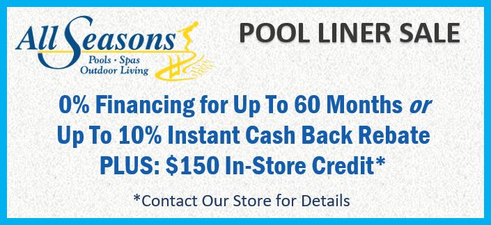 Pool Liner Sale at All Season Pool & Spa