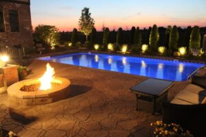 Vinyl Rectangle Pool with LED Lights 2